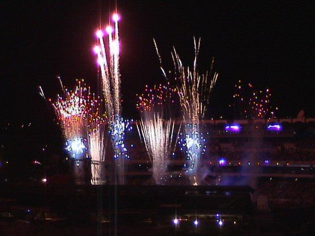 Calgary Stampede Fireworks 2003 Greeting Cards